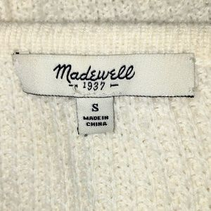 Madewell Sweaters - Madewell Cotton Blend Hi-Low Sweater 3/4 sleeve Sm